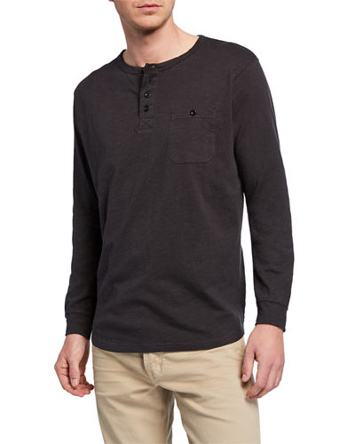 Men's Slub Lounge Henley Shirt