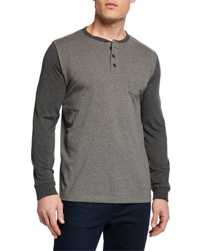 Men's Pocket Baseball Henley Shirt