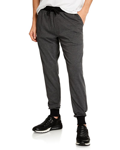 Men's Lounge Pants with Contrast Cuffs