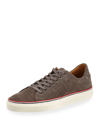 JACHS NY Men'S Barry Lace-Up Suede Sneakers in Gray