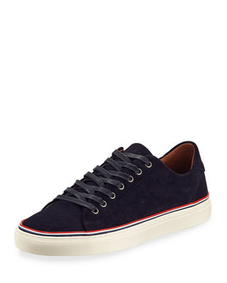JACHS NY Men'S Barry Lace-Up Suede Sneakers in Navy
