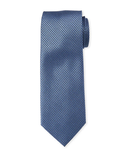 Men's Mini-Geo Patterned Silk Tie