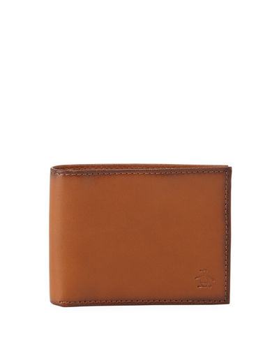 Men's Slim Bi-Fold Leather Wallet