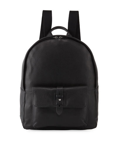 Men's Pebbled Leather Backpack