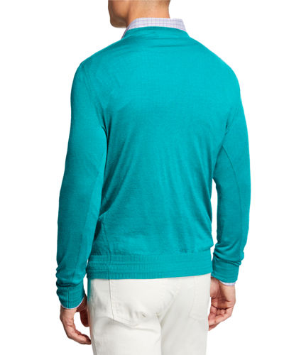Men's Cashmere/Silk V-Neck Sweater