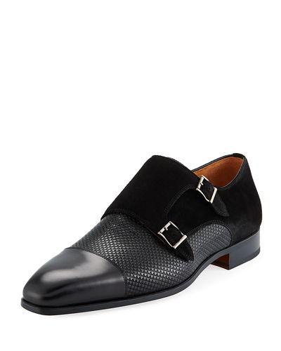 Mixed Leather Monk Loafer