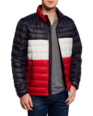 MODERN AMERICAN DESIGNER Men'S Packable Down Puffer Jacket in Multi Pattern