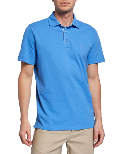 Short-Sleeve Half-Button Polo
