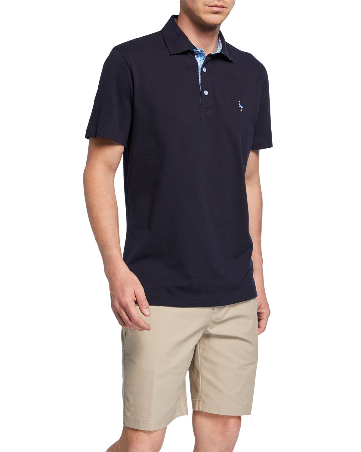 Tailorbyrd Shorts SHORT-SLEEVE HALF-BUTTON POLO