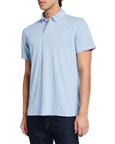 Men's Linen Melange Polo Shirt