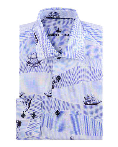 Men's Heitor Vintage Ship Colored Dots Sport Shirt