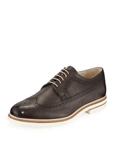 Men's Leather Wingtip Oxfords