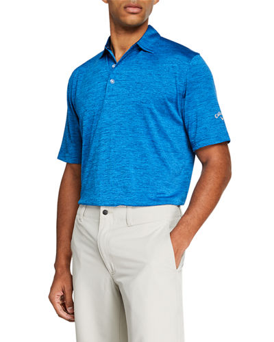 Men's Space-Dye Striped Polo Shirt