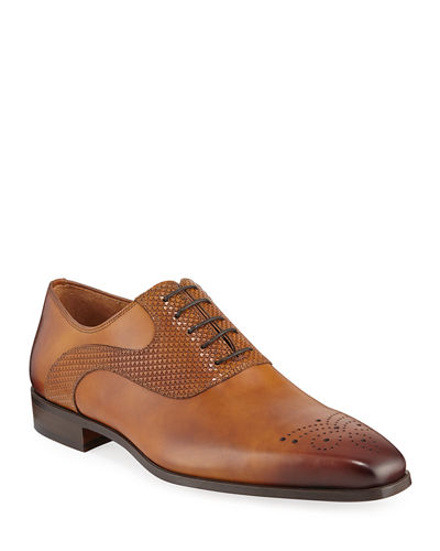 Men's Antiqued Leather Lace-Up Oxford