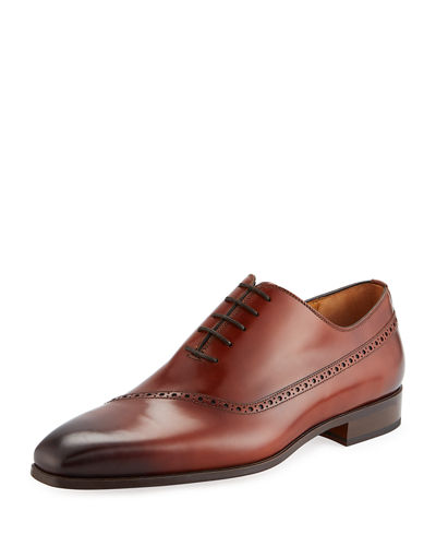 Men's Guadiana Brogue-Trim Dress Shoes