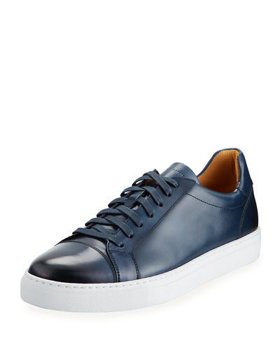 Men's Boltan Low-Top Leather Sneakers