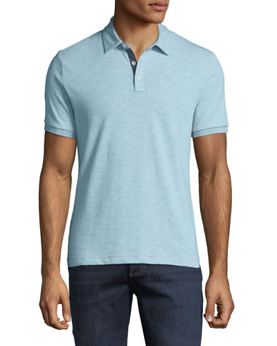 Men's Slub-Jersey Polo Shirt
