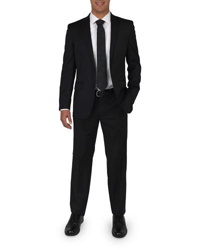 Men's Slim-Fit Wool Two-Piece Suit