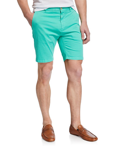 Men's Straight Flat-Front Shorts