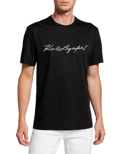 Men's Crewneck Logo Signature T-Shirt