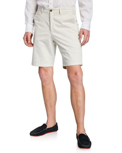 Men's Cotton Straight-Leg Chino Shorts