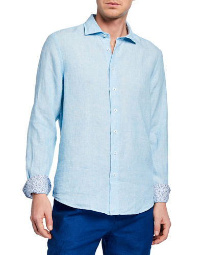 Men's Linen End-on-End Sport Shirt