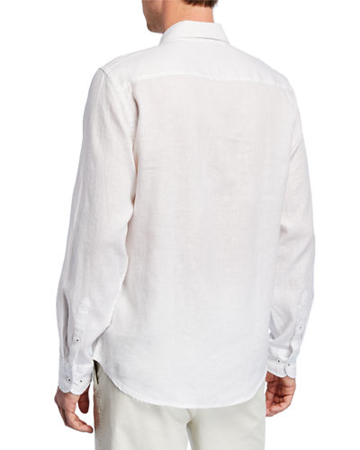 Men's Leisure-Fit Linen Sport Shirt