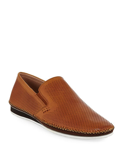 Men's Merz Perforated Leather Loafers