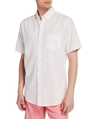 Men's Jack Short-Sleeve Linen/Cotton Sport Shirt