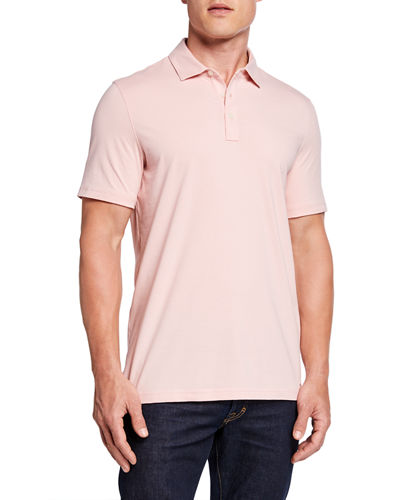 Casual Pullover Half Button-Front Polo