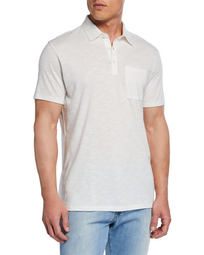 Men's Short-Sleeve Slub Polo