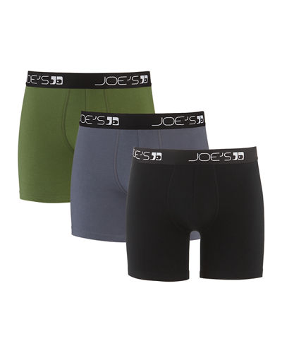 Men's Cotton-Stretch Boxer Briefs  3-Pack