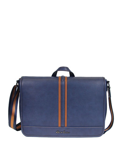 Danielstown Faux Leather Messenger Bag