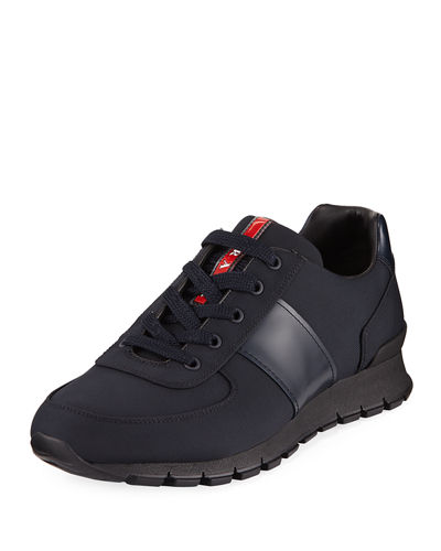 Men's Leather & Nylon Running Sneakers