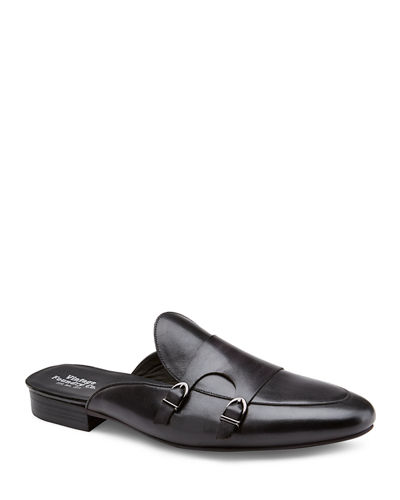 Men's Desmet Double-Monk Leather Mules
