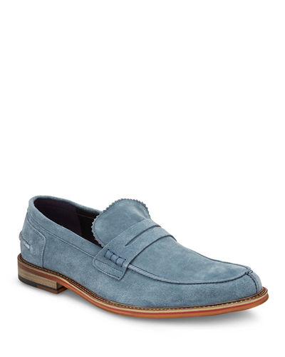 Men's Novak Suede Penny Loafers
