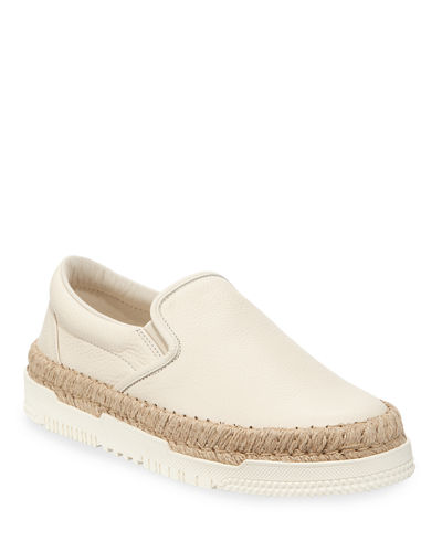 Men's Slip-On Leather Espadrille Sneakers