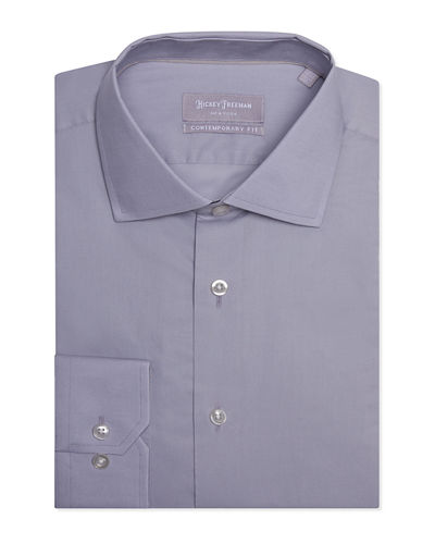 Men's Contemporary Fit Pinpoint Oxford Dress Shirt