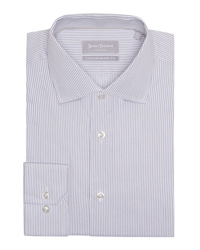 Men's Contemporary-Fit Thin-Striped Dress Shirt