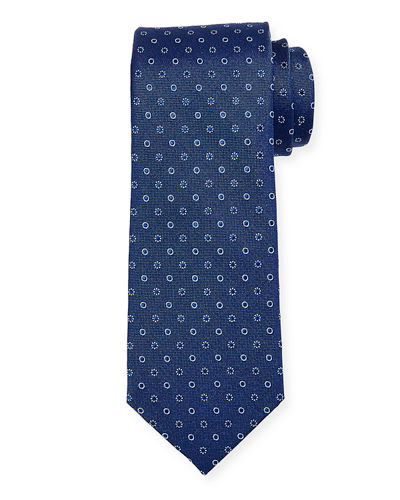 Men's Neat Circle Silk Tie