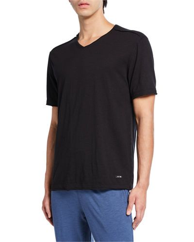 Men's V-Neck Exposed Seam T-Shirt