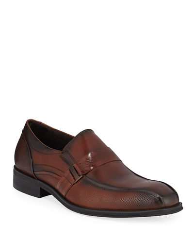 Men's Tyrie Textured Leather Loafers