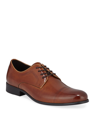 Men's Chief Lace-Up Leather Derby Shoes