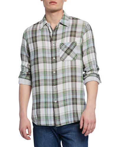 Men's Fit 3 Plaid Beach Shirt w/ Pocket