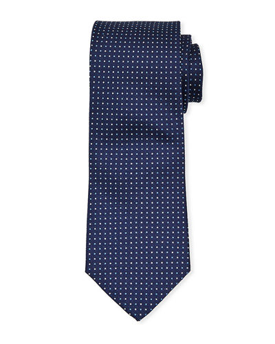 Men's Micro Dot Silk Tie