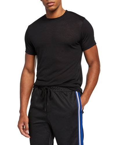 Men's Activewear Crewneck Core Mesh T-Shirt