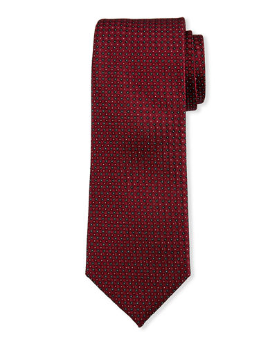 Men's Neat Dot Silk Tie