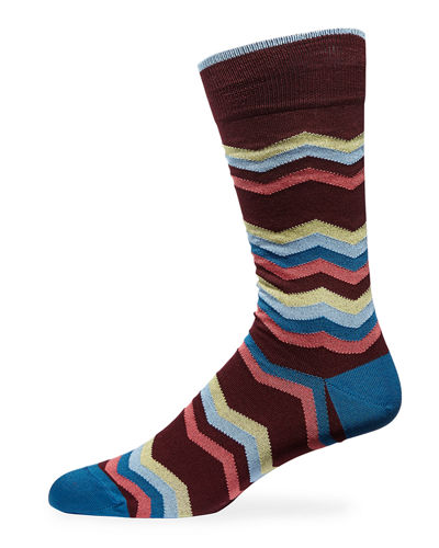 Men's Chevron Crew Socks