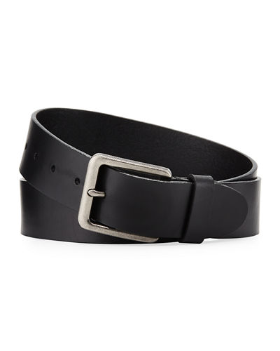 Men's Cut Edge Leather Casual Belt