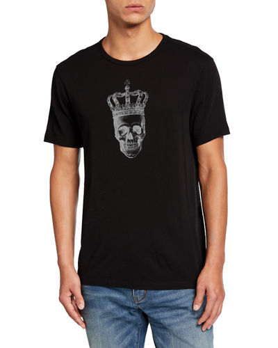 Men's Skull Crown Short-Sleeve Graphic T-Shirt